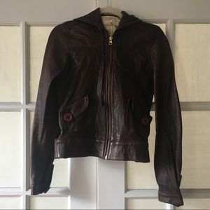 Softest Mike & Chris hooded leather jacket